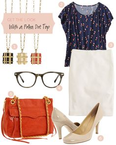 Loving this outfit idea, and thinking about getting a white pencil skirt.