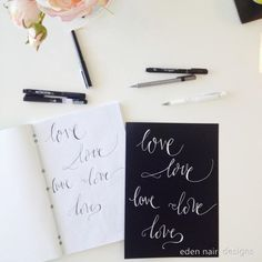 love hand lettered modern calligraphy