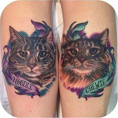 32 Majestic Cat Portrait Tattoos | Tattoodo.com