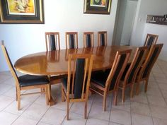 Marri Dining Table and 10 Marri and Black Leather Chairs | Dining Tables | Gumtree Australia Joondalup Area - Currambine | 1144547630