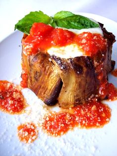 PROUD ITALIAN COOK: Mini Ricotta, Eggplant and Pasta Timbales