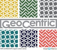 GeoCentric canvas collection by Michelle Engel Bencsko | Cloud9 Fabrics, via Flickr