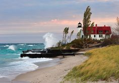 Sunrise at Point Betsie Lighthouse - Crystallia, Michigan by Michigan Nut, via Flickr