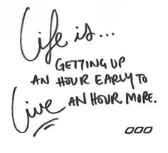 life and living.