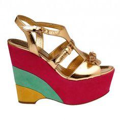 zapatos de plataforma moschino