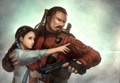 Natalia/Barry Resident evil Revelations 2 fanart