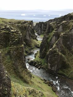 Fjaðrárgljúfur a grassy canyon in south east Iceland.    Click on the photo to discover the most incredible destinations with us :)