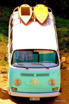 van and boards.