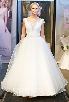Brides: Casablanca Bridal - Fall 2014. Wedding dress by Casablanca Bridal