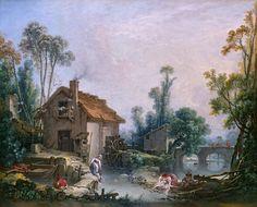 Francois Boucher - Landscape with a Watermill. Национальная галерея, Часть 2