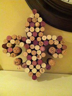 Vino Wine Cork Letters- Fleur de lis- Cork Monogram- Louisiana- LSU- Kappa Kappa Gamma