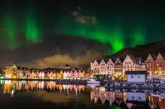 Auroras boreales desde Bergen, Noruega