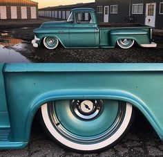 chevy truck - detroit steel wheels