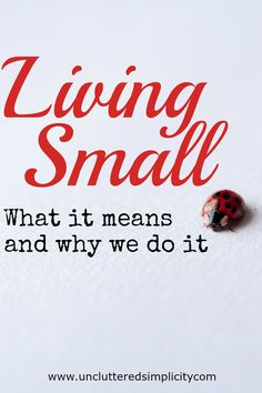 Living Small: What It Means and Why We Choose It. Living small isn't just about the size of your home, it's about how you choose to live your life.