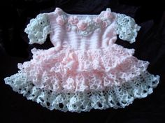 Crochet Baby Girl Ravelry: Baby-Girl Dress inspired by a Pineapple Dolly free crochet pattern by Svetlana M. Crochet Baby Dress Free Pattern, Baby Dress Patterns, Baby Girl Crochet, Crochet Baby Clothes, Crochet Patterns, Vestidos Bebe Crochet, Crochet Dresses, Baby Girl Dresses, Baby Knitting