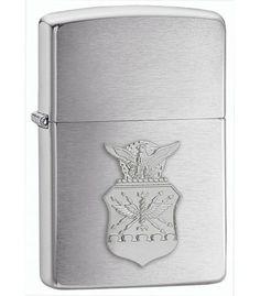 US Air Force Emblem Chrome Zippo Lighter (USAF)