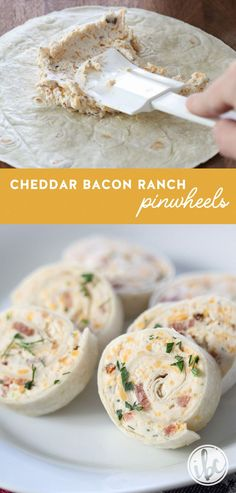 Bacon Ranch Tortilla Pinwheels Need a quick and delicious appetizer? Try these Cheddar Bacon Ranch Tortilla Pinwheels!Need a quick and delicious appetizer? Try these Cheddar Bacon Ranch Tortilla Pinwheels! Birthday Appetizers, Bacon Appetizers, Quick Appetizers, Finger Food Appetizers, Easy Appetizer Recipes, Holiday Appetizers, Quick Snacks, Cold Party Appetizers, Wedding Appetizers