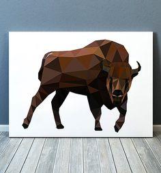Bull poster Geometry art Animal print Torro print TOA274