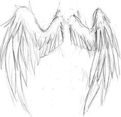 Anime Drawings Sketches, Pencil Art Drawings, Cool Art Drawings, Drawing Reference Poses, Drawing Poses, Drawing Tips, Sketching Tips, Wings Drawing, Angel Drawing