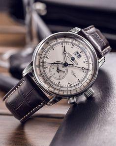 The German adventurer: GRAF ZEPPELIN Dual Time Big Date 100 Years. Style and precision. In ordnung. #GRAFZEPPELIN #KhaValeri https://ro.pinterest.com/KhaValeri/ kha_amz_ZEPdualtime2103_v0