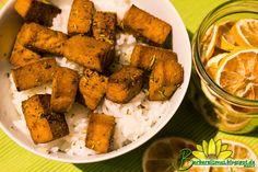 Tofu Assado ao Molho Cítrico de Ervas - Veganana