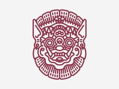 Topeng Bali . Demon . Mask . Pictogram . Icon . God . Bali Culture . Graphic Design .