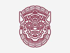 Topeng Bali . Demon . Mask . Pictogram . Icon . God . Bali Culture . Graphic Design .