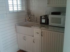 Simple, yet totally functional kitchen in cottage at Castle Hill Inn, Newport RI