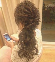 お色直しの髪型におすすめサイドダウンのブライダルヘアカタログ | marry[マリー]
