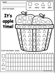 Count And Match The Fall Apples (10-15) to practice math