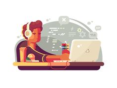 Web developer by Anton Fritsler (kit8) #Design Popular #Dribbble #shots