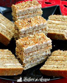 Prajitura Krantz cu nuca si caramel (reteta veche) - Lecturi si Arome