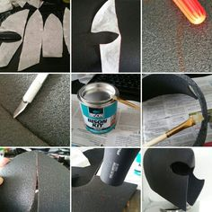 9-step tutorial for making a foam helmet <- This tutorial focuses on making a Magneto helmet, but is useful as well for similar models, I used this tutorial for making the Arbiter's helmet from Halo 5