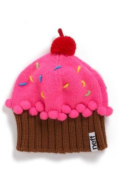 So darn cute - I need a baby girl Neff 'Cupcake' Beanie (Girls) available at #Nordstrom