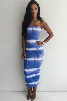 Tia 3/4 Sleeve Tie Dye Bodycon Dress from Boohoo - $24.00