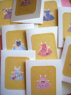 Very cute paperdoll party invites! Followed this blog to make some for my daughter's party....turned out great!