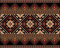 Vektor-Illustration der ukrainischen Volks nahtlose Muster Ornament ethnischen Ornament photo