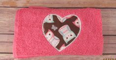 Heart Towel Valentine's Day Gifts Heart Embroidered Towel  Pink Towel With Embroidered HeartHeart Towel Valentine's Gifts for Her. (15.00 USD) by Shuregifts