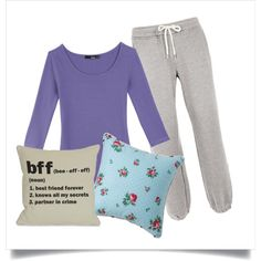 """If I could get away with it, I'd probably wear this every day.  Love the purple color. """"1 X 02 The Lorelai's First Day at Chilton - Lorelai"""" by faedissey on Polyvore"""