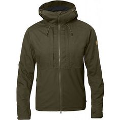 FJALLRAVEN Men's Abisko Lite Jacket Dark Olive Green L