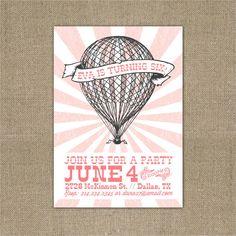 PRINTABLE Vintage Hot Air Balloon