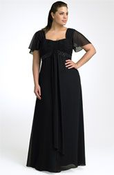 JS Boutique Flutter Sleeve Chiffon Gown