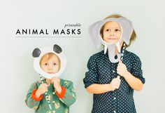 Foster imaginative play with this printable animal mask DIY.