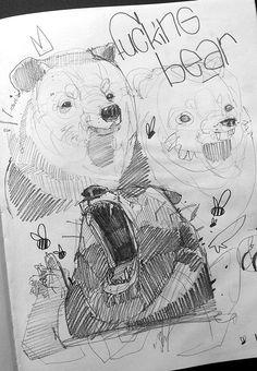 Blackbook pieces... #01 by Monsta , Lyon, France | Drawing | Fine Arts |  Illustration | Draw | Desenho | Ilustração | Bear | Sketch |