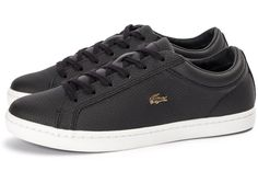 Lacoste Straightset noire et or Lacoste Sneakers, Baskets, Gentleman, Men's Shoes, Converse, Footwear, Slip On, Men's Coats, Sportswear