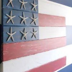 Star fish flag; love this idea