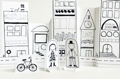 Made by Joel is an awesome blog with diy kids stuff. This paper city is a great imaginative play/art project idea