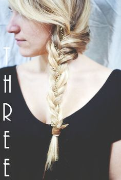 fox and gypsy hairstyles, hair DIY, fishtail braid DIY