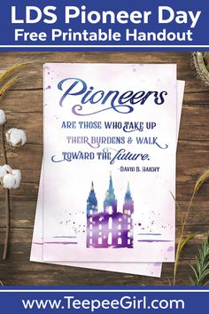 Perfect for lessons handouts in Young Women or Relief Society, ministering, or just for fun Pioneer Day decor! Pioneer Activities, Primary Activities, Church Activities, Indoor Activities For Kids, Speech Therapy Activities, Play Therapy, Summer Activities, Family Activities, Outdoor Activities