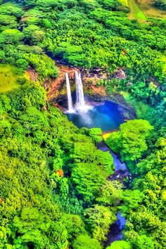 Waterfalls – Amazing Creation of Nature - Wailua Falls, Kauai, Hawaii